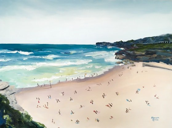 (CreativeWork) Tamarama Beach  by Meredith Howse. Acrylic Paint. Shop online at Bluethumb.