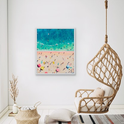(CreativeWork) Watermelon blush beach by Lorena Chivu. Acrylic Paint. Shop online at Bluethumb.