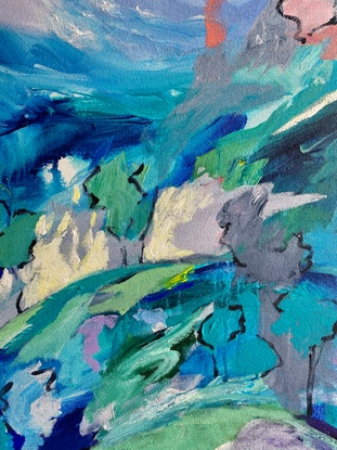 (CreativeWork) High Country by Sue Woolnough. Acrylic Paint. Shop online at Bluethumb.