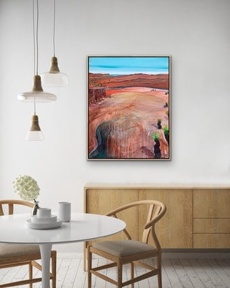 (CreativeWork) Sandrock Bluff by Tania Chanter. Acrylic Paint. Shop online at Bluethumb.