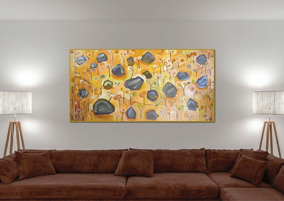 (CreativeWork) Leanganook Granite II by Michael Wolfe. Acrylic Paint. Shop online at Bluethumb.