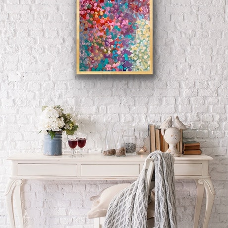 (CreativeWork) Morning Love FRAMED  by Theo Papathomas. Acrylic Paint. Shop online at Bluethumb.