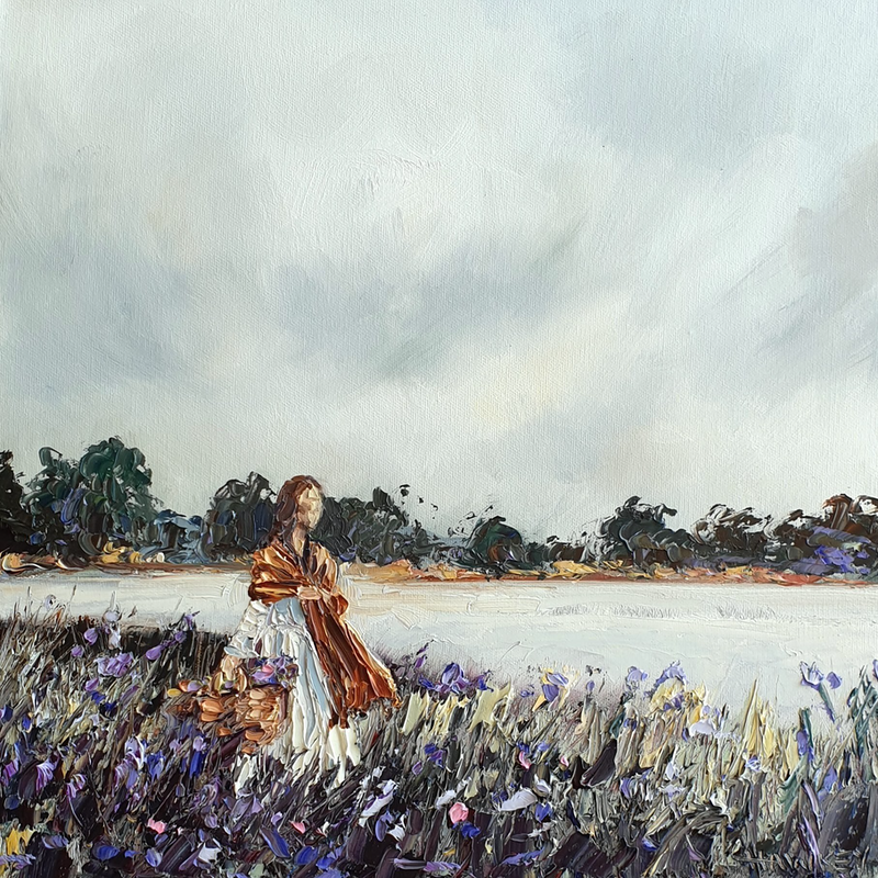 (CreativeWork) Simple Pleasures by Angela Hawkey. Oil Paint. Shop online at Bluethumb.