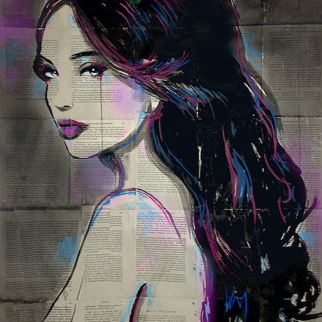 (CreativeWork) OPHELIA'S DESIRE by loui jover. Mixed Media. Shop online at Bluethumb.