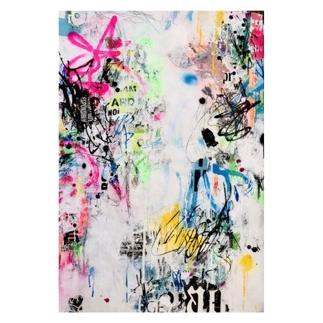 (CreativeWork) Neon Haze by Cold Ghost. Mixed Media. Shop online at Bluethumb.