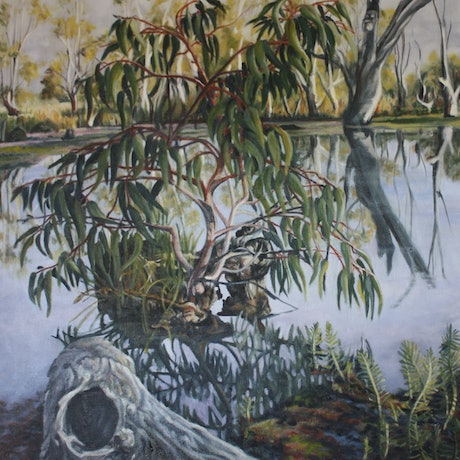 (CreativeWork) Koondrook  Day Break by Gaye Sutherland. Oil Paint. Shop online at Bluethumb.