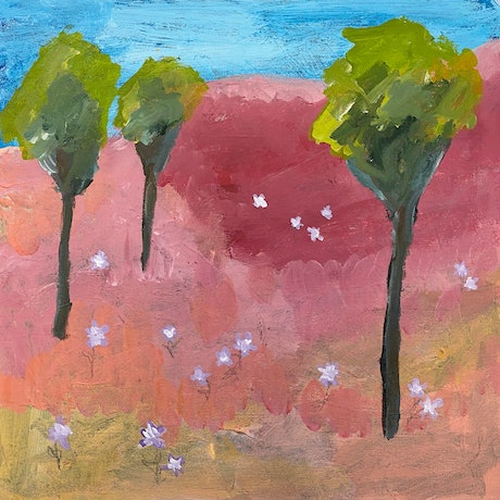 (CreativeWork) Softest Spring by Kylie Dwyer. Acrylic Paint. Shop online at Bluethumb.