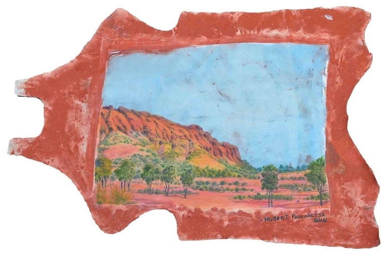 (CreativeWork) Home. Tjoritja (The West MacDonnell Ranges), Central Australia, 2019 - Hubert Pareroultja & Shannon Alexander Murphy by Hubert Pareroultja. Mixed Media. Shop online at Bluethumb.