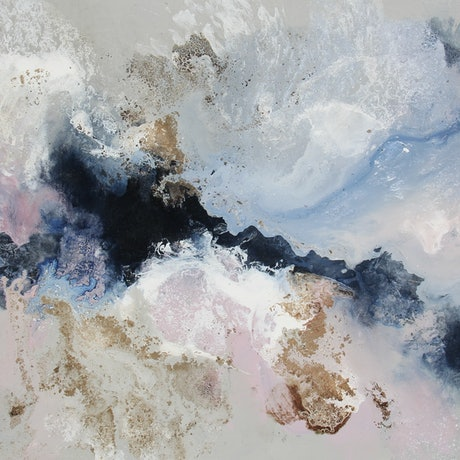 (CreativeWork) Midnight Waters by Sue Dyde. Mixed Media. Shop online at Bluethumb.