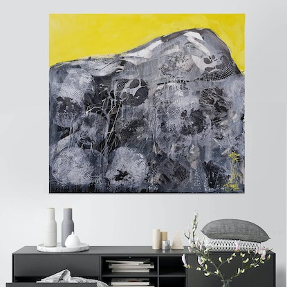 (CreativeWork) Yellow I by Laurie Franklin. Oil Paint. Shop online at Bluethumb.