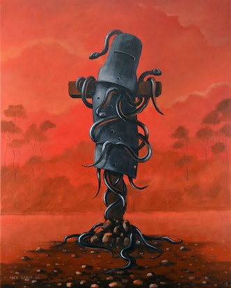 """(CreativeWork) Ned Kelly """" Rust and dust"""" by Max Horst  Sokolowski. Acrylic Paint. Shop online at Bluethumb."""