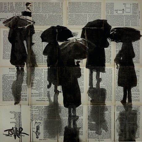 (CreativeWork) RAINY DAY FIGURES by loui jover. Other Media. Shop online at Bluethumb.