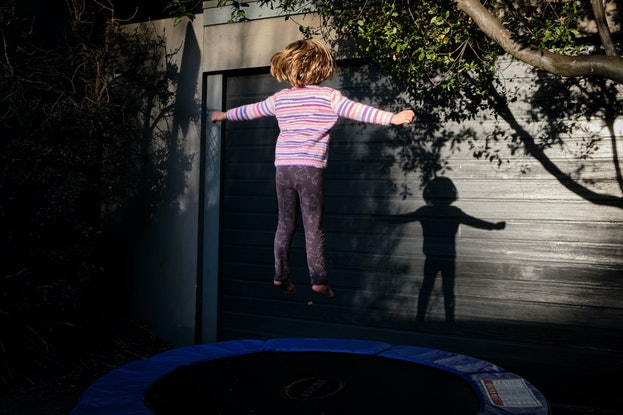 (CreativeWork) Essential Exercise, Garage Trampoline Ed. 1 of 5 by Brent Lukey. Photograph. Shop online at Bluethumb.