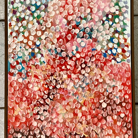 (CreativeWork) Venus Petals  FRAMED  by Theo Papathomas. Oil Paint. Shop online at Bluethumb.