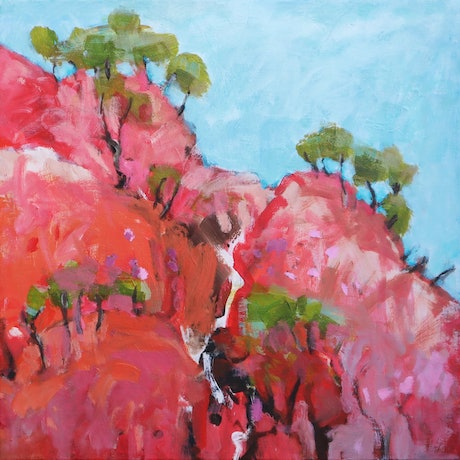 (CreativeWork) Outback near Winton by Susan Lhamo. Acrylic Paint. Shop online at Bluethumb.