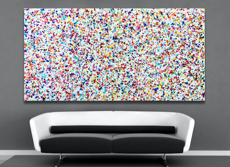 (CreativeWork) Another Universe by Estelle Asmodelle. Acrylic Paint. Shop online at Bluethumb.