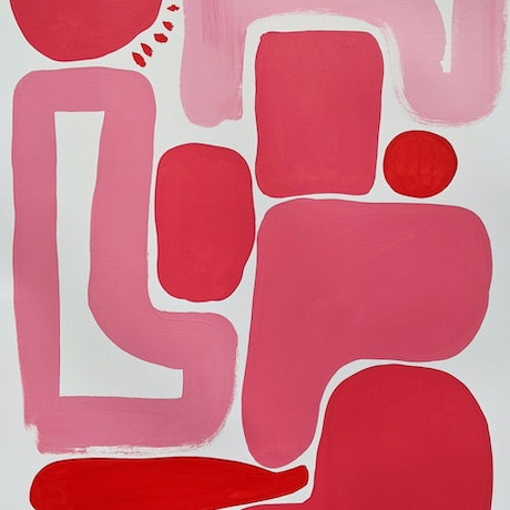 (CreativeWork) Pink and Red II by Ellen McKenna. Acrylic Paint. Shop online at Bluethumb.