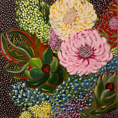 (CreativeWork) Charlotte by Victoria Beths. Acrylic Paint. Shop online at Bluethumb.