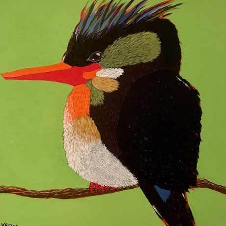 (CreativeWork) Leroy by Victoria Beths. Acrylic Paint. Shop online at Bluethumb.