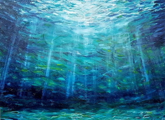 (CreativeWork) Into the Light by Georgina Richmond. Oil Paint. Shop online at Bluethumb.