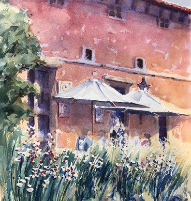 (CreativeWork) Much Ado About Nothing by Catherine Fitzgerald. Watercolour Paint. Shop online at Bluethumb.