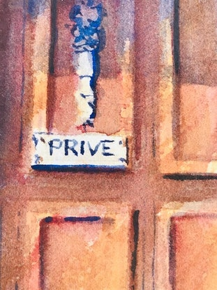 (CreativeWork) Private by Catherine Fitzgerald. Watercolour Paint. Shop online at Bluethumb.