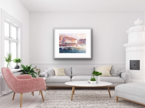 (CreativeWork) Rooms With A View by Catherine Fitzgerald. Watercolour Paint. Shop online at Bluethumb.