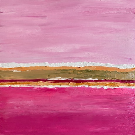 (CreativeWork) Hutt Lagoon  by Pip Phelps. Acrylic Paint. Shop online at Bluethumb.