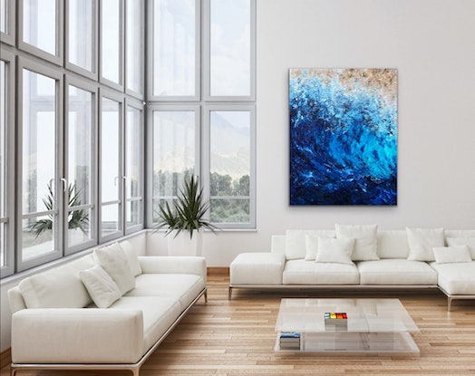 (CreativeWork) Deep Dive by Kristyna Dostalova. Oil Paint. Shop online at Bluethumb.