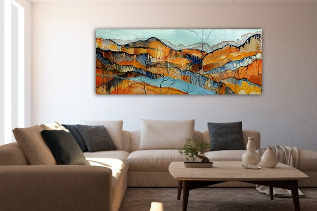 (CreativeWork) Desert Solitude - Commission for K by Doodie Herman. Acrylic Paint. Shop online at Bluethumb.