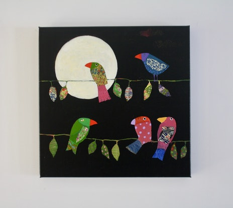 (CreativeWork) Night Songs by Christine Robinson. Mixed Media. Shop online at Bluethumb.