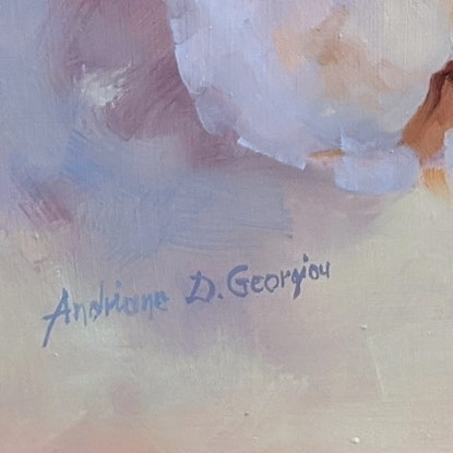 (CreativeWork) Cotton by Andriane Georgiou. Oil. Shop online at Bluethumb.