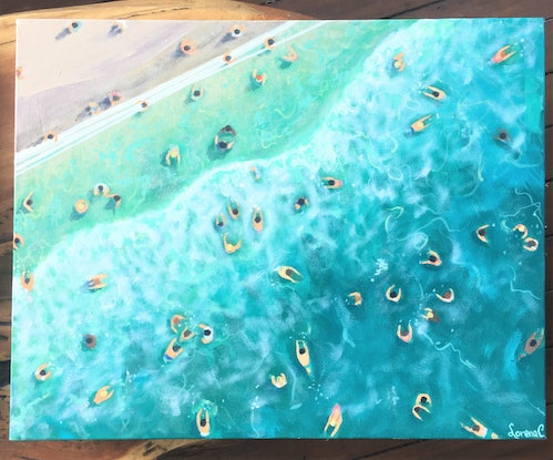 (CreativeWork) When in Bondi by Lorena Chivu. Acrylic Paint. Shop online at Bluethumb.