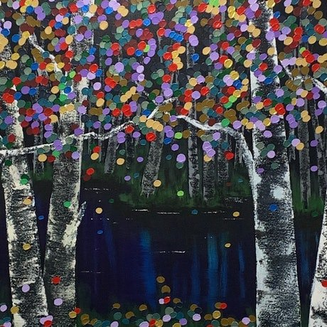 (CreativeWork) Aspen Shimmer by Tom Roso. Acrylic Paint. Shop online at Bluethumb.