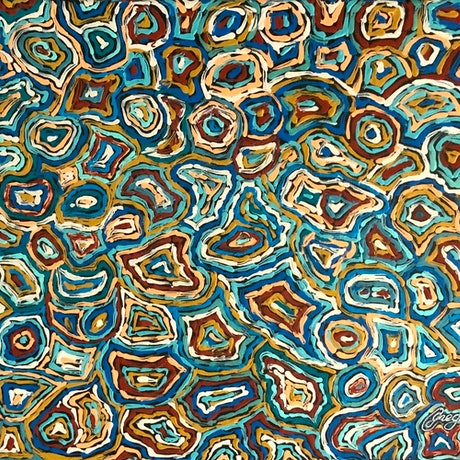 (CreativeWork) Rings of Time_1 by Greg Matthews. Acrylic Paint. Shop online at Bluethumb.
