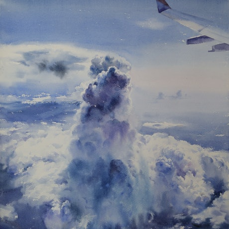 (CreativeWork) Fly Away by Richard(Tiejun) Chao. Watercolour Paint. Shop online at Bluethumb.