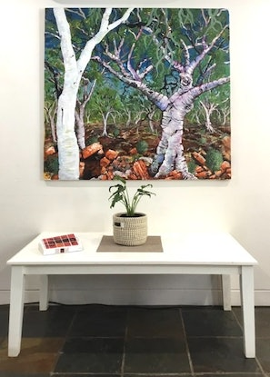 (CreativeWork) Whitegums by Mark Espie. Mixed Media. Shop online at Bluethumb.