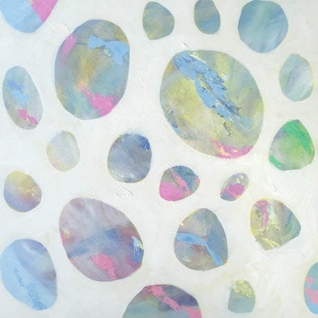 (CreativeWork) Opal Finds by Meredith Howse. Acrylic Paint. Shop online at Bluethumb.