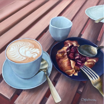 (CreativeWork) Signature Tarte by Catherine Wallace. Oil Paint. Shop online at Bluethumb.