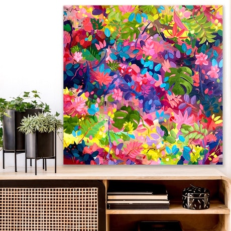 (CreativeWork) Colour My World by Eve Sellars. Acrylic Paint. Shop online at Bluethumb.