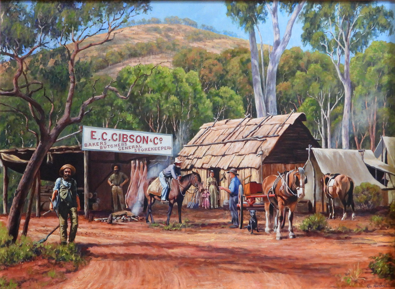 (CreativeWork) GIBSON'S STORE  (Size C) Ed. 14 of 750 by Ron and Jennifer Marshall. Print. Shop online at Bluethumb.