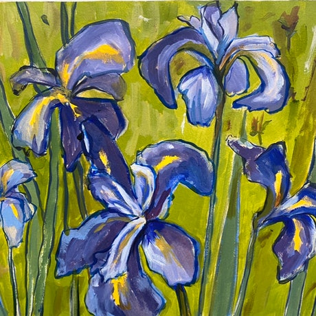 (CreativeWork) Iris Glimpses II (after VG) by Kate Gradwell. Acrylic Paint. Shop online at Bluethumb.