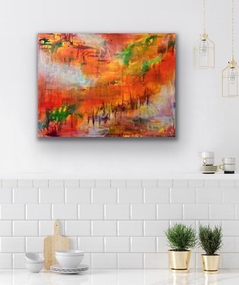 (CreativeWork) Rising Cloud - Drift I – Original Abstract Art by Jacquelyn Stephens. Oil Paint. Shop online at Bluethumb.
