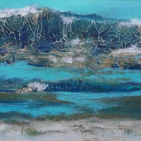 (CreativeWork) Yanchep Lagoon by Brigitte Ackland. Mixed Media. Shop online at Bluethumb.