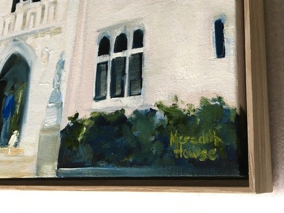 (CreativeWork) White Tower, Ashgrove  by Meredith Howse. Oil Paint. Shop online at Bluethumb.