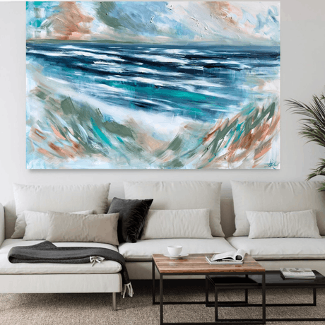 (CreativeWork) Take me to the sea  by Amanda Brooks. Acrylic Paint. Shop online at Bluethumb.