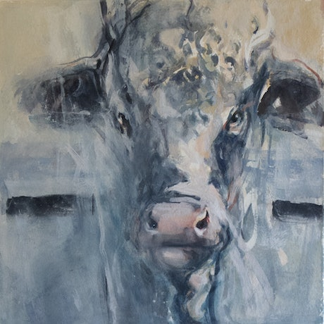 (CreativeWork) Young Bull by T. B. Watercolours. Watercolour Paint. Shop online at Bluethumb.