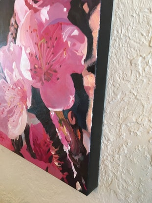 (CreativeWork) Let your dreams blossom (A) by Katrina Linn. Oil Paint. Shop online at Bluethumb.