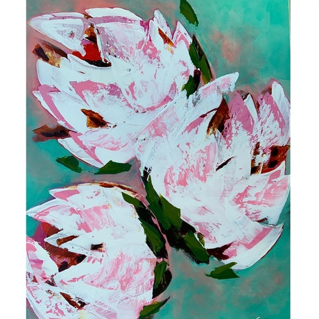 (CreativeWork) Olivia by Victoria Beths. Acrylic. Shop online at Bluethumb.