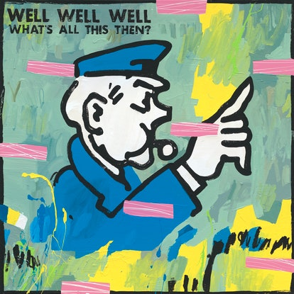 (CreativeWork) Well Well Well by Ben Tankard. Acrylic Paint. Shop online at Bluethumb.